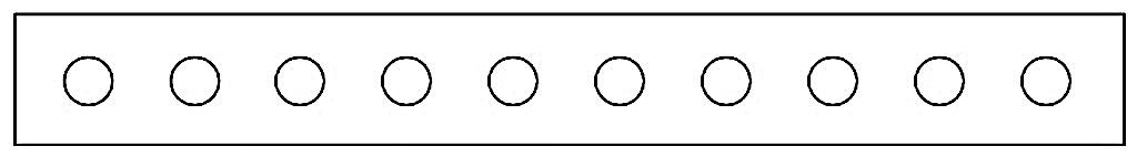 横に並んだ10つの白まる