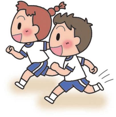 走る男子と女子
