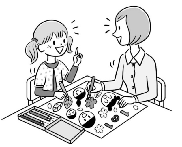 まずは、担任との関係をつくり、学習、友達関係……と心配事を解決できるように、徐々にアプローチしていく