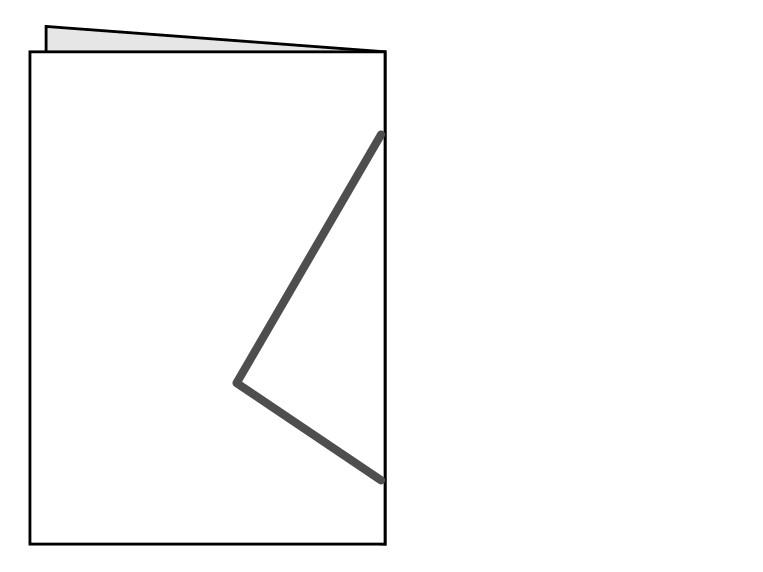 半分に折った線対称の図形