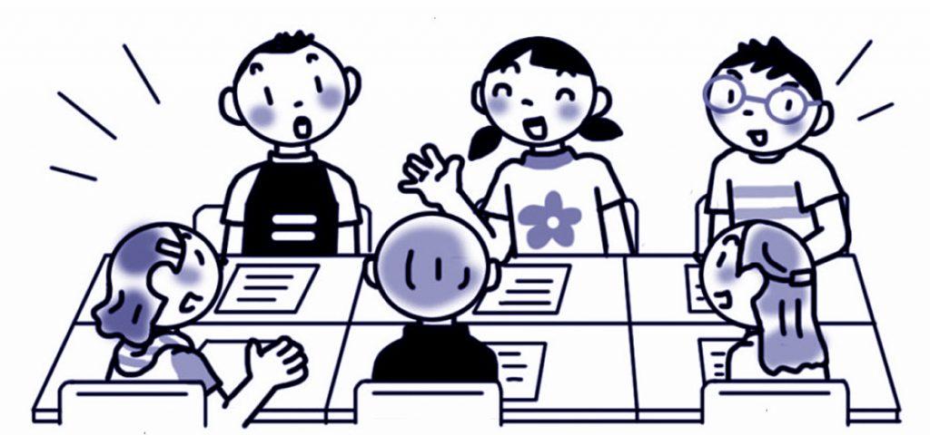 提案する内容をグループで話し合い内容をよりよいものにしよう。