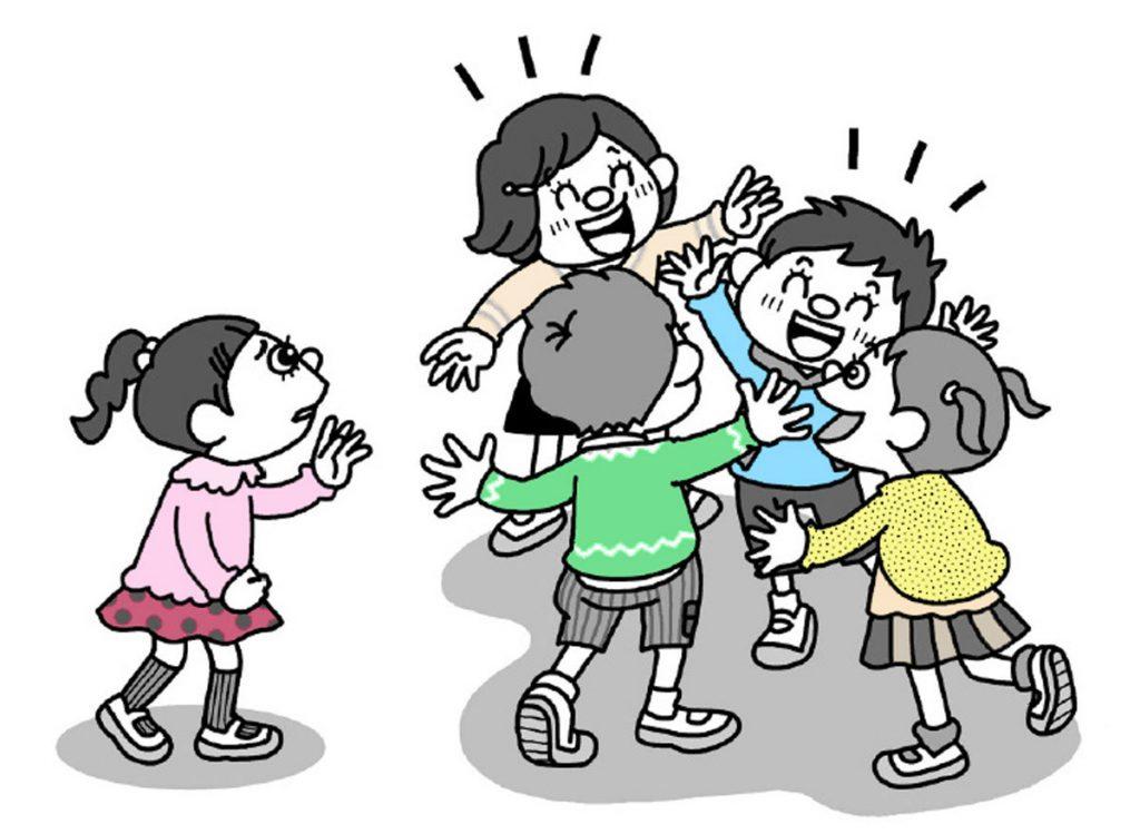 小2道徳「およげないりすさん」指導アイデアのイメージイラスト
