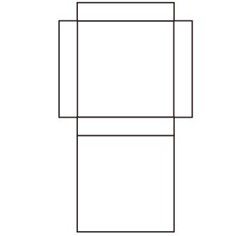 箱「エ」の展開図