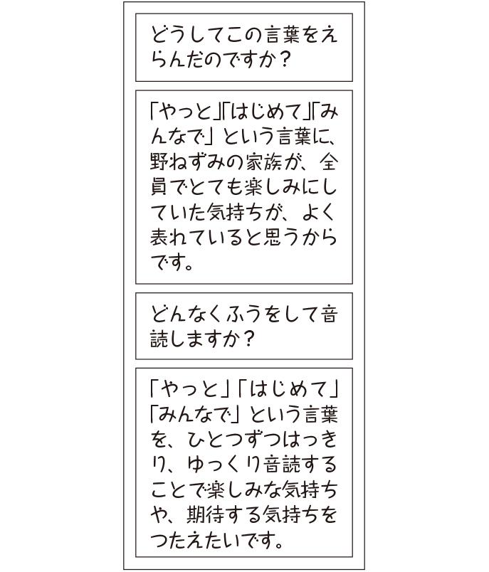 筆談インタビュー(音読前)の例