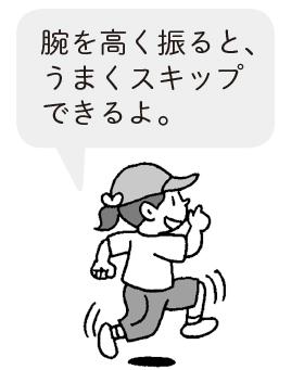 スキップ走・新聞紙走・しっぽ走(走り方を工夫する
