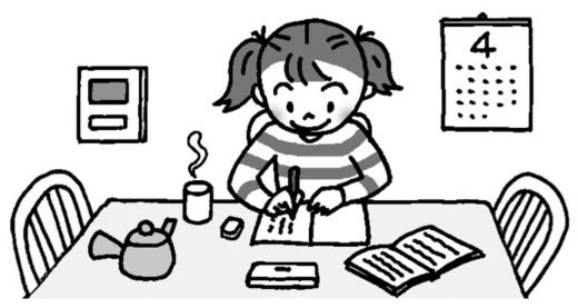 家庭学習の様子