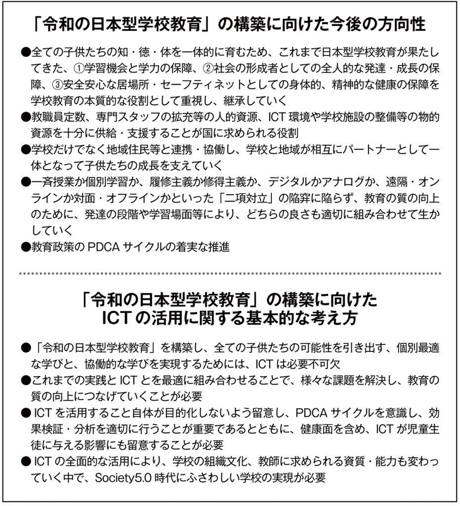 「令和の日本型学校教育」の構築を目指して(図3)