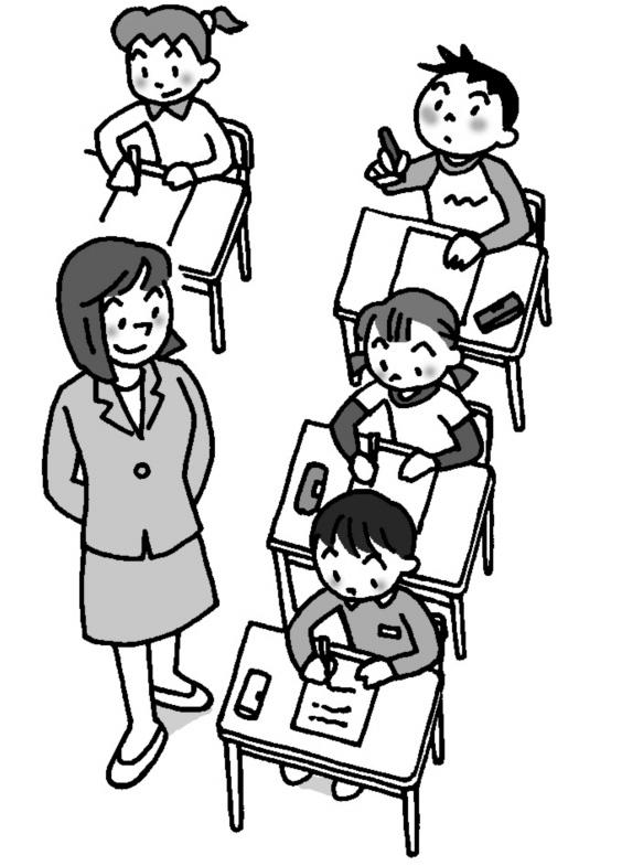 教師は、個々の子供たちに声をかけて、具体的な姿について考えるように指導していく