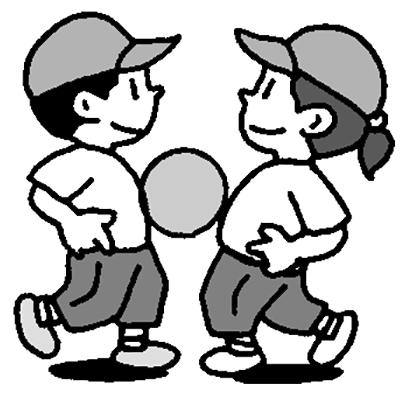 2人組ボール運び