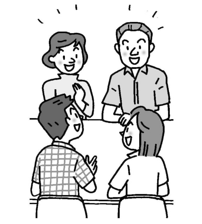 話し合う教師たち