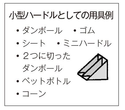 小型ハードルとしての用具例