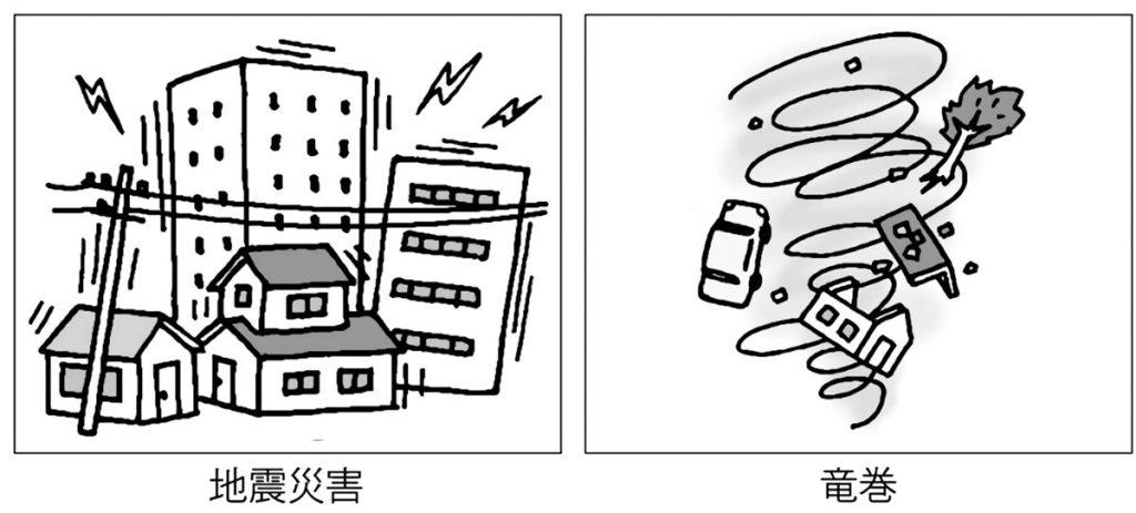 地震災害・竜巻