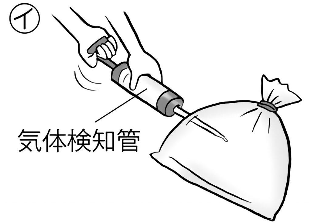 気体検知管を使って成分を調べる