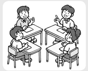 学習問題の結論について話し合う