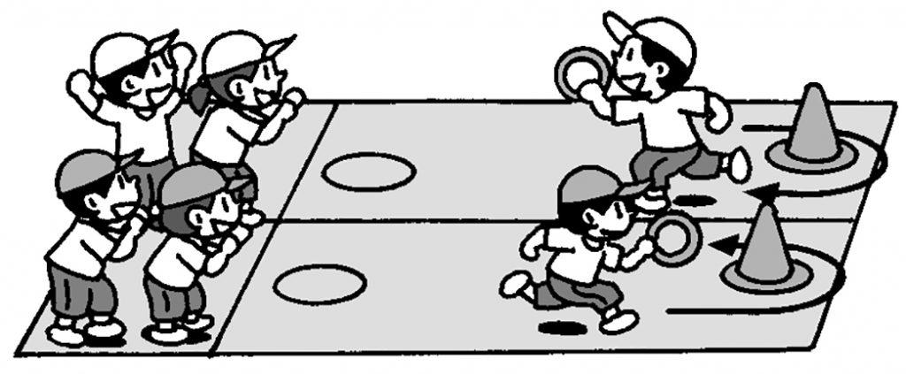 走・跳の運動(小型ハードル走)