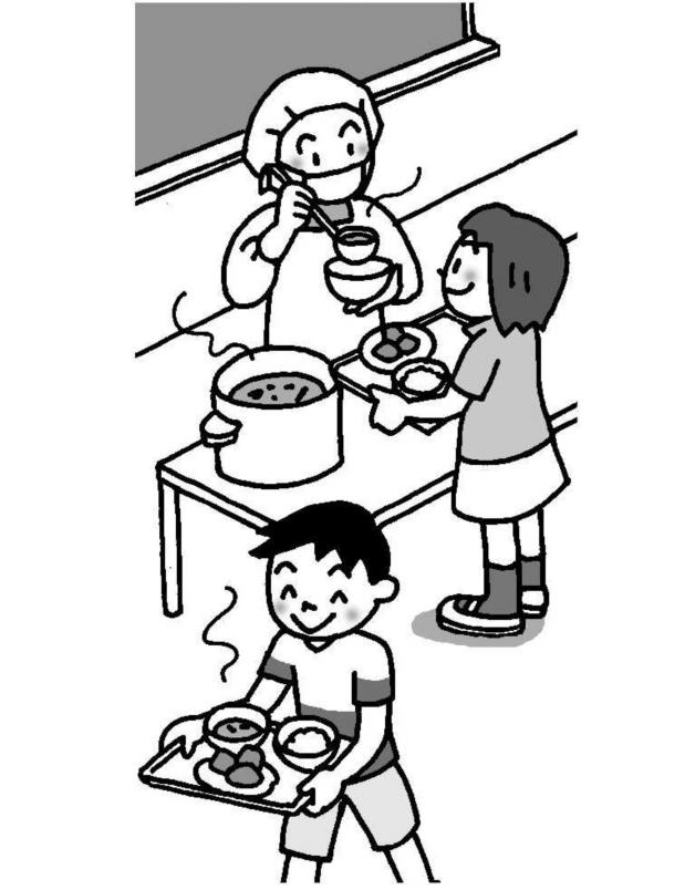給食時間の指導の工夫