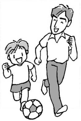 子供と遊ぶ教師