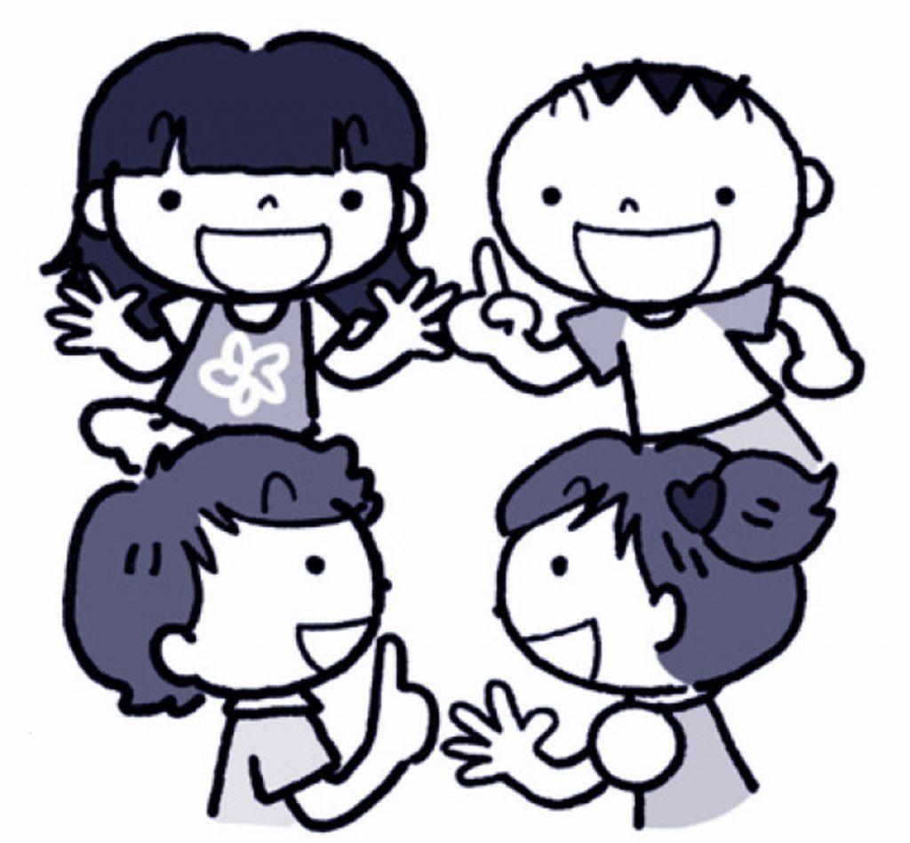 小3国語「グループの合い言葉をきめよう」指導アイデアのイメージイラスト