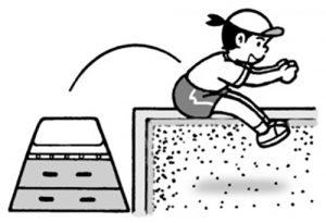 跳び箱を使った跳躍