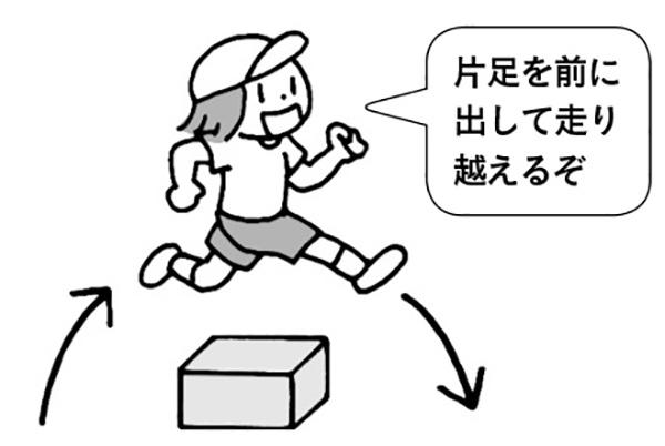 ジャンプ走り(段ボール)