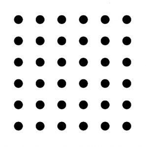 並んだ36個の点