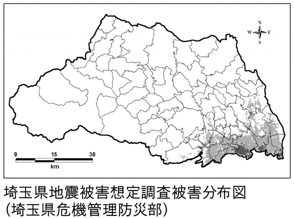 埼玉県地震被害想定調査被害分布図