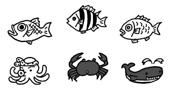 6匹の魚の絵