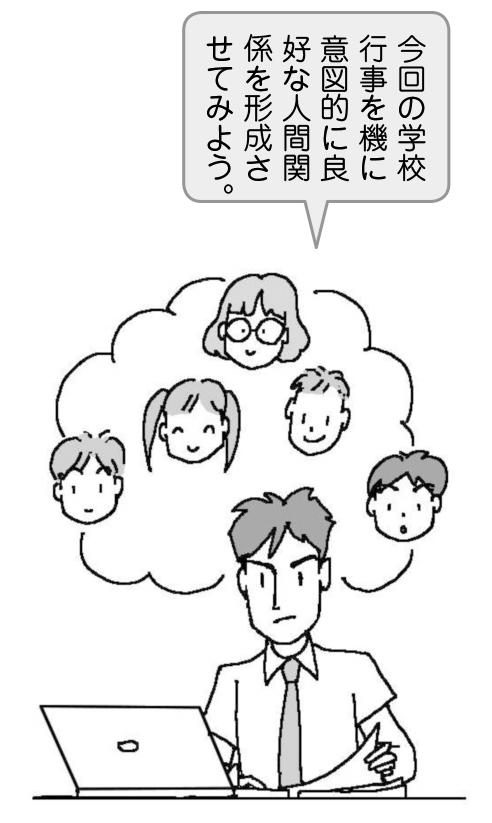 教師「今回の学校行事を機に 意図的に良好な人間関係を形成させてみよう」