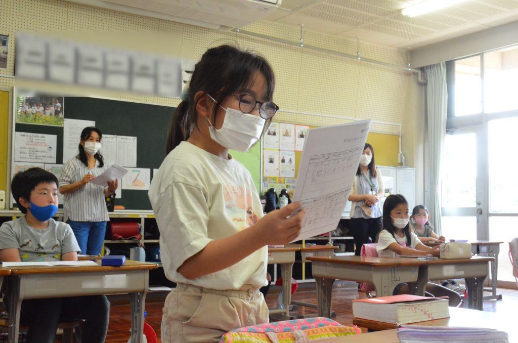 クラス全体で考えを交流し、学習のまとめとする。