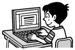 パソコンを使う子供