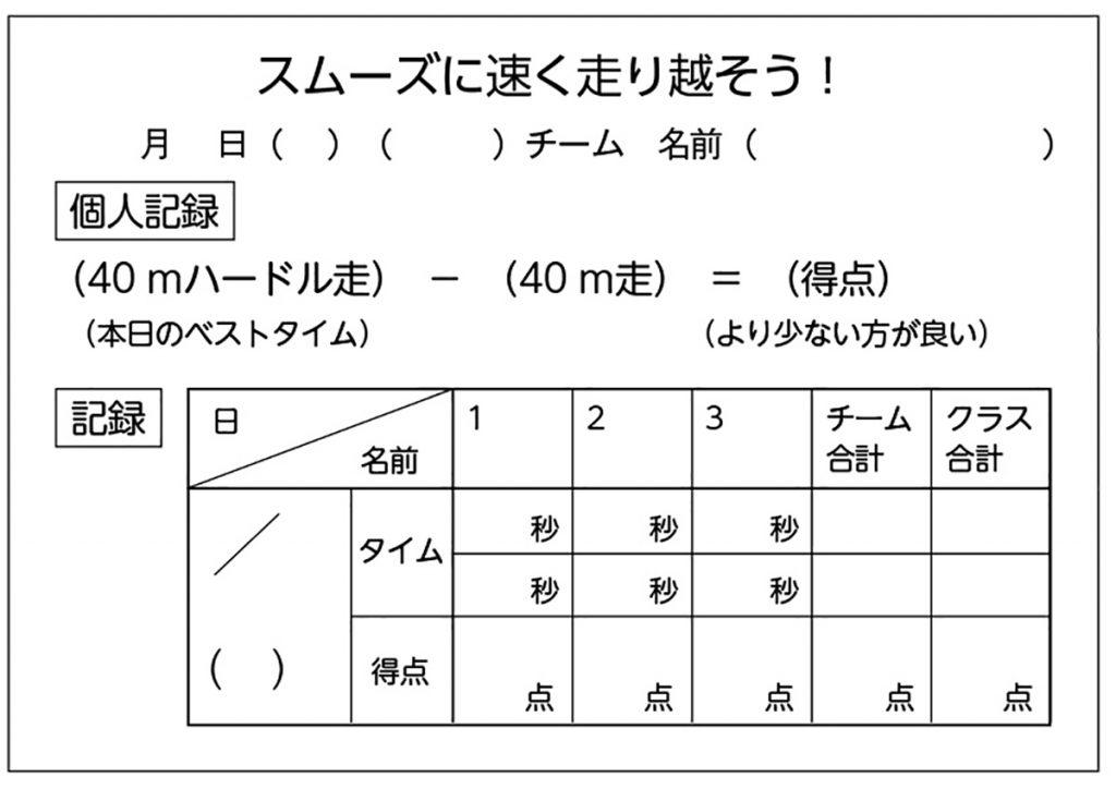 記録シート
