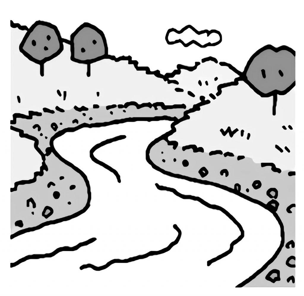 流れる川の様子