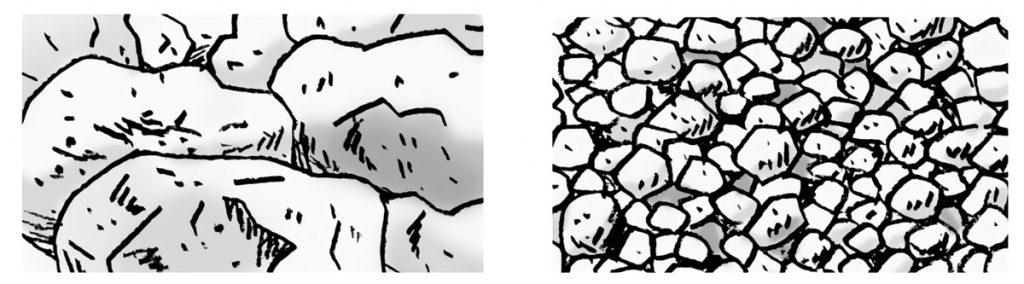 上流の石と下流の石