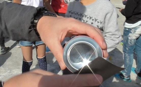 光を集める実験