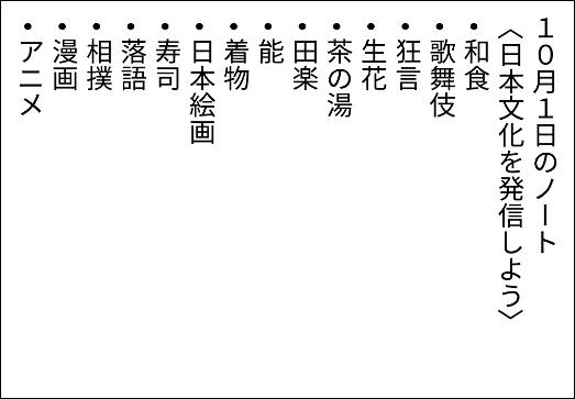 日本文化とは何かを書いたロイロノートのテキストカード